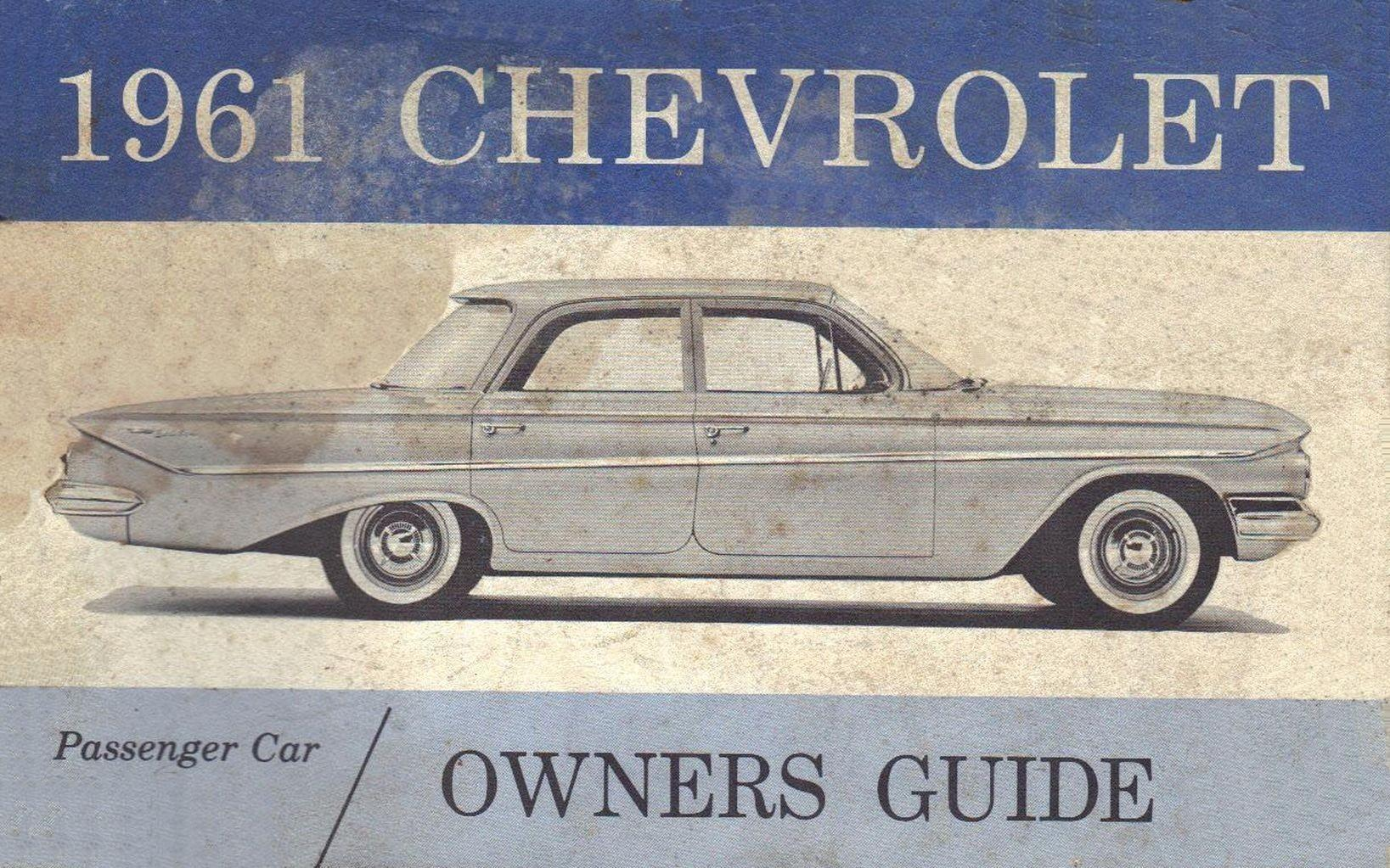 1961 Chevrolet Owners Manual