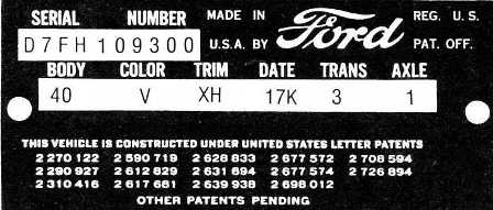 Automotivetimelines Blog 187 Ford Vehicle Identification