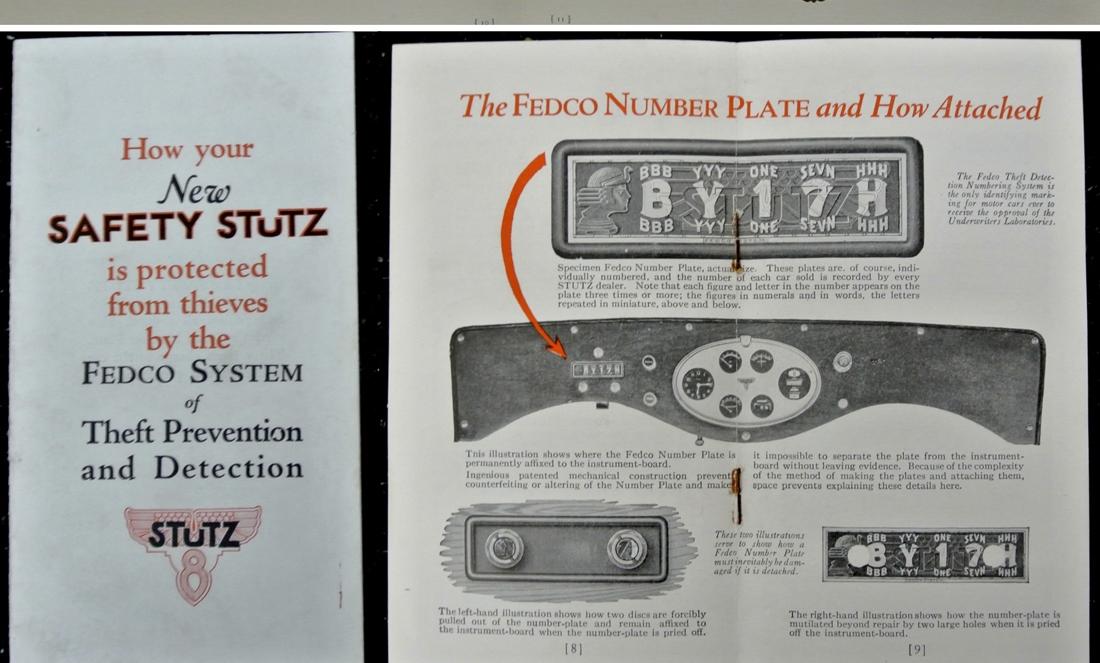 Stutz FEDCO Brochure Excerpts